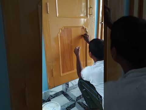 How to convert simple paint wood door into polish .......