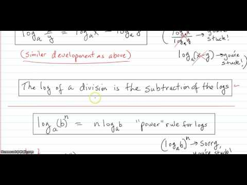 Logarithm rules and examples