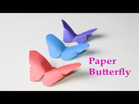 How To Make A Paper BUTTERFLY Easy Origami | Paper Crafts | Diy Cool Hacks