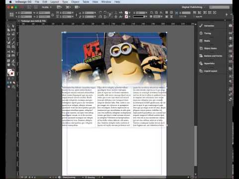 Adobe InDesign - gradient feather for images