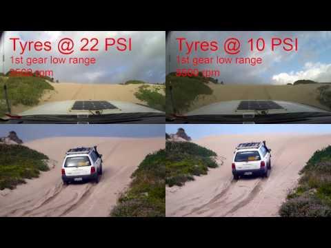 22PSI Vs 10PSI Tyre Pressure Comparison on Sand Dune.