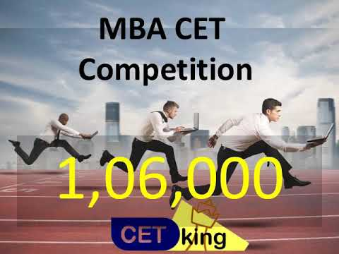 MBA CET 2018. 1,06,000 students applied. Know your competition.