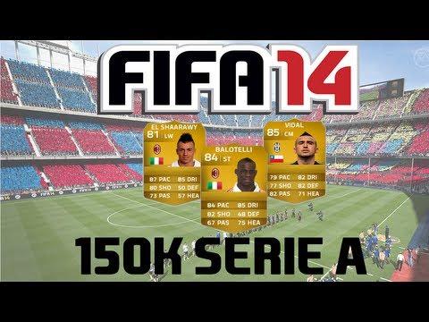 FIFA 14 Ultimate Team | 150k Serie A Squad Builder ft. Balotelli, El Shaarawy & Vidal!
