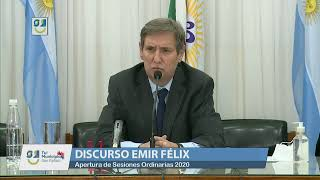 DISCURSO INTENDENTE EMIR FÉLIX - APERTURA SESIONES 2020