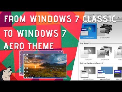 Windows 7 Aero Theme not working error | Gray Theme error | 2017