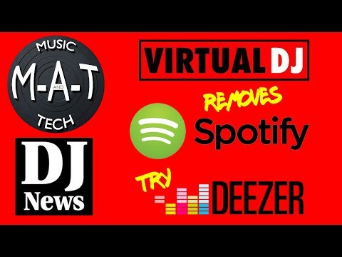 Virtual DJ removes Spotify ... try Deezer. ( The M-A-T )