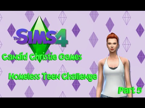 The Sims 4 Homeless Teen Challenge   Stay In School!