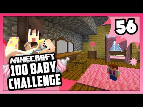 THE PRINCESS BEDROOM! - Minecraft: 100 Baby Challenge - EP 56