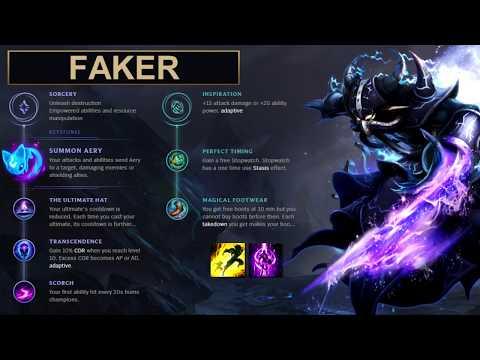 SKT Faker Build Kassadin - New Runes Season 8 solo vs Ryze (League of Legends Guide)