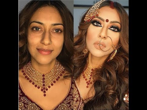 indian | Bollywood | South Asian Bridal Makeup - Start To Finish @Blueroseartistry