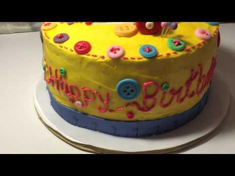 Sewing theme cake