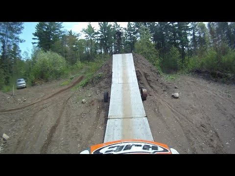 Dirt Bike Ramps and Jumps on a CRF450