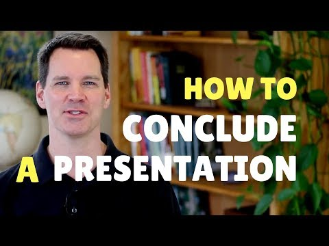 How to End a Presentation