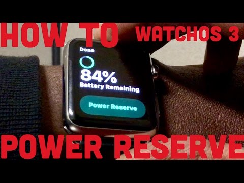 How To Power Reserve Apple Watch After WatchOS 3 Update