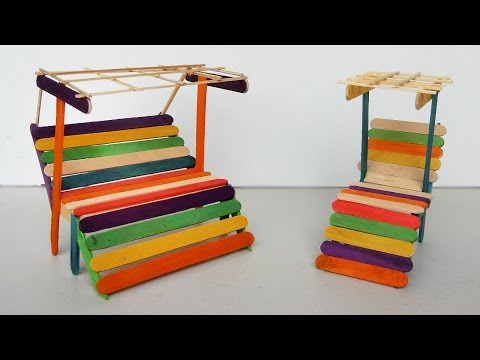 Popsicle stick Crafts - Miniature Relaxing chairs