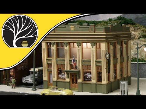 Citizen's Savings and Loan - HO Scale | Built-&-Ready® | Woodland Scenics | Model Scenery