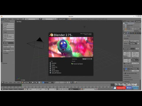 01. Blender Tutorial in Hindi - Introduction (Free 3D Animation Software)