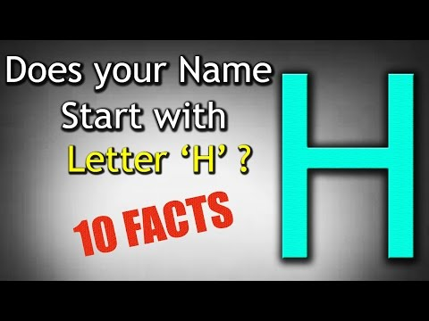 10 Facts about the People whose name starts with Letter 'H' | Personality Traits