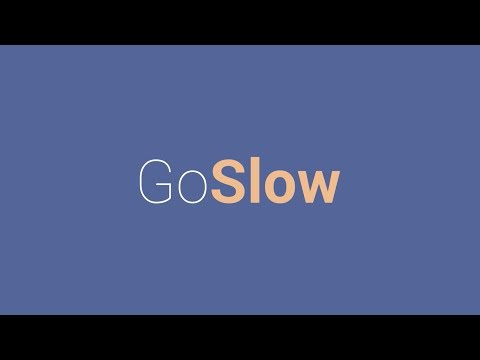 Go Slow: Put your fork down