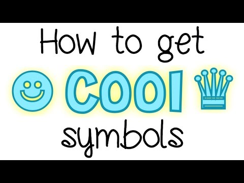 How to get cool symbols (❃ ✩ ☻ ∞ ❁ ❤︎ ♛) (tutorial Thursday #1)