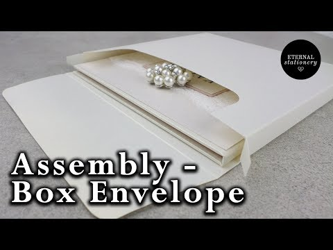 How to assemble our Invitation box envelopes - DIY Wedding Invitations