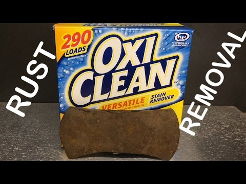 Remove Rust With Oxiclean | Grandpa's Tools | Cruiser Axe 1
