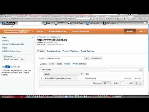 Google Analytics admin account