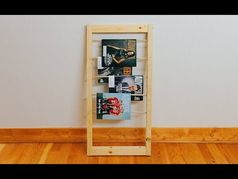 How to Make a Dowel Magazine Rack