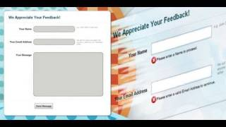 Php Contact Form And Form Validation Dreamweaver Tutorial 1 Of 2
