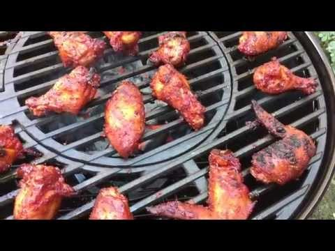 Grilled Kimchi Chicken Wings - Korean BBQ Wings - Stok Grill Recipe