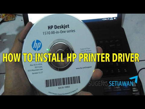 how to install hp printer driver on windows