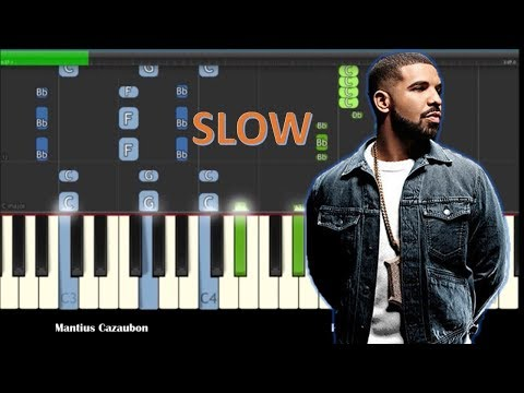 Drake - God's Plan Slow Piano Tutorial - How To Play