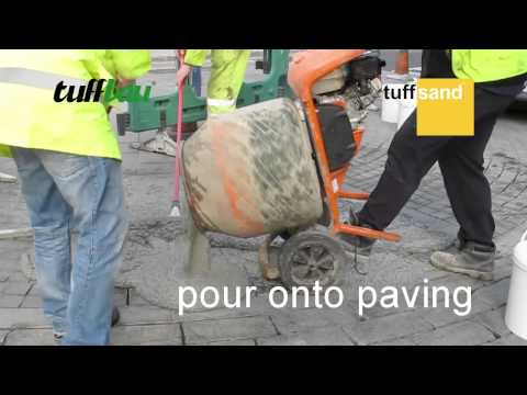 how to joint block paving with tuffsand - slurry grout method