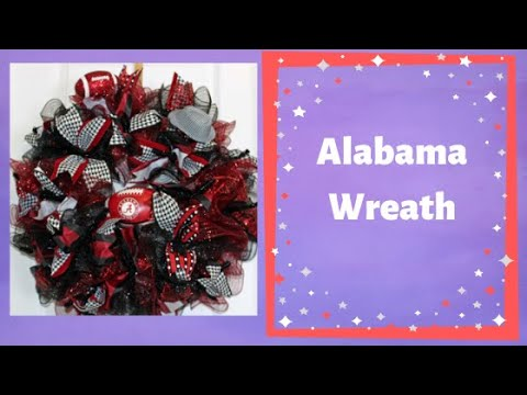 How to make a deco mesh ruffle wreath with fewer cuts