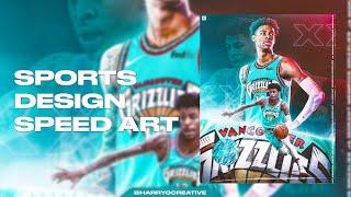 Ja Morant Sports Design Speed Art