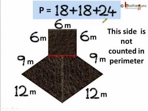 Maths - Perimeter of an Irregular Shape - Hindi