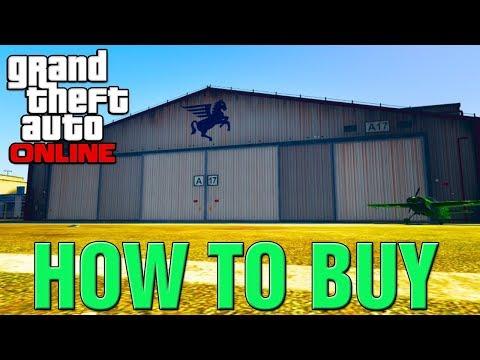"GTA 5 Online DLC - How To Buy New HANGAR & Start AIR FREIGHT BUSINESS! ""SMUGGLERS RUN DLC 2017"""