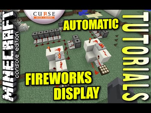 MINECRAFT - PS4 - AUTOMATIC FIREWORKS DISPLAY - HOW TO - TUTORIAL ( PS3 / XBOX / PC / VITA )