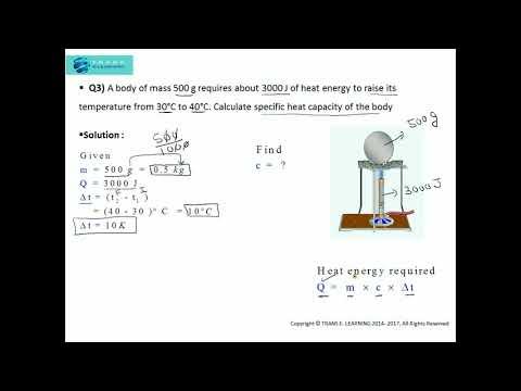 SPECIFIC HEAT CAPACITY & HEAT CAPACITY (Heat :Calorimetry) Practice Problems-I Part 2