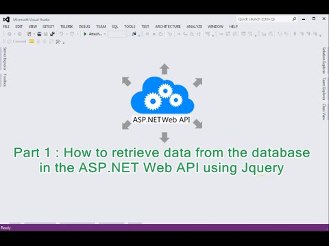 Part1 - How to retrieve data from the database in the ASP.NET Web API using Jquery
