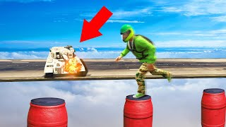 EXTREME MILE HIGH TANKS vs. DEATHRUNNERS! (GTA 5 Funny Moments)