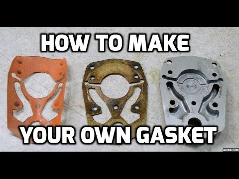 How to make a gasket for a complex shape using a computer scanner
