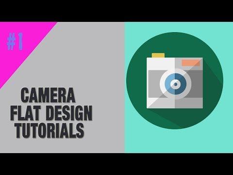 Camera Icon Flat Design | UI Design Tutorials