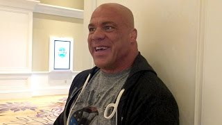 What will Kurt Angle talk about in his Hall of Fame speech?