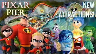 NEW Incredibles & Inside Out Rides CONFIRMED for Pixar Pier at Disney California Adventure!