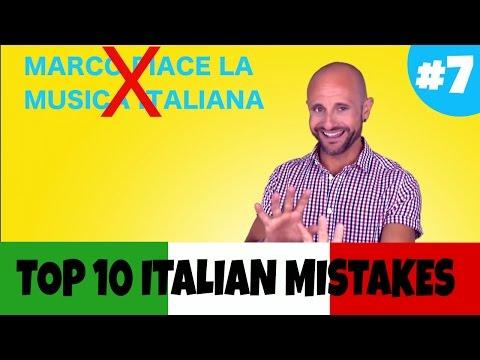 PIACERE: Top 10 Italian Mistakes - Learn Italian Verbs and Improve Italian Grammar
