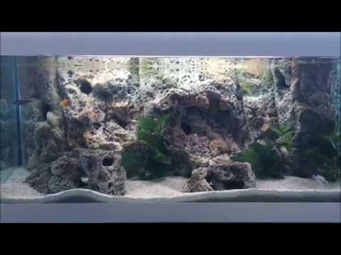 How to install 3d Aquarium Background - Limestone Modules - NEW