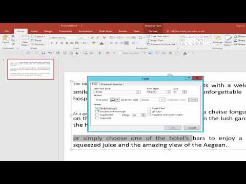 PPT Tutorial- How to Use Subscript and Superscript option in PowerPoint Document 2017