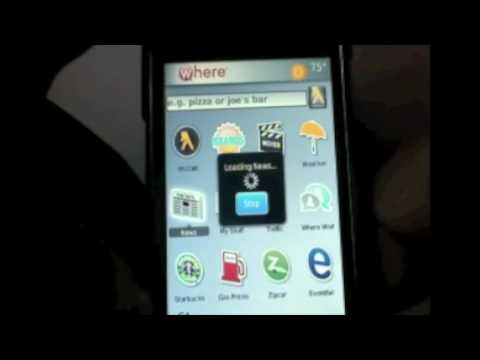BlackBerry Storm 9530: WHERE app