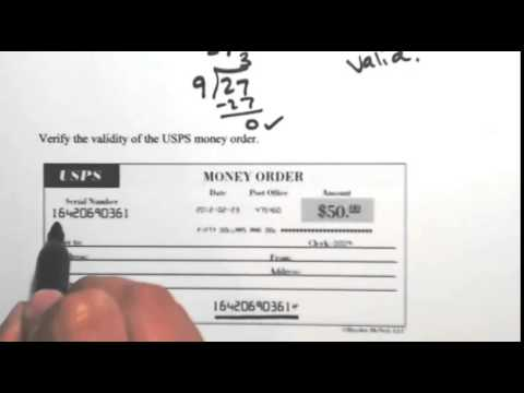 Valid Traveler's Check and Money Order